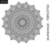 flower mandala. vintage... | Shutterstock .eps vector #708415702
