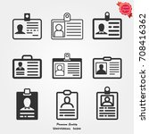 id card icons  id card icons... | Shutterstock .eps vector #708416362