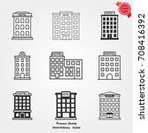 hotel icons vector | Shutterstock .eps vector #708416392