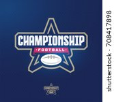 modern professional sport logo... | Shutterstock .eps vector #708417898