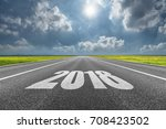 driving on open road at... | Shutterstock . vector #708423502