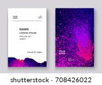 neon colorful explosion paint... | Shutterstock .eps vector #708426022