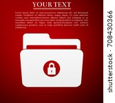 locked folder icon isolated on... | Shutterstock .eps vector #708430366