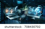 hacker accessing to personal... | Shutterstock . vector #708430702