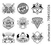 simple mono lines logos... | Shutterstock .eps vector #708431026