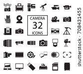 camera 32  icons on white... | Shutterstock .eps vector #708431455