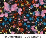 seamless pattern with lot of...   Shutterstock . vector #708435046