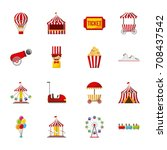 collection of elements related... | Shutterstock .eps vector #708437542