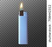 realistic vector lighter....   Shutterstock .eps vector #708442312
