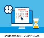 dates and deadlines banner.... | Shutterstock . vector #708443626