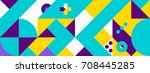 simple banner of decorative... | Shutterstock .eps vector #708445285