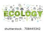 modern flat thin line design... | Shutterstock .eps vector #708445342