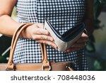 closeup photo of stylish woman... | Shutterstock . vector #708448036