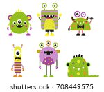 set of halloween monsters | Shutterstock .eps vector #708449575