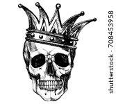 king of death. portrait of a... | Shutterstock .eps vector #708453958