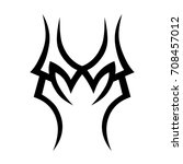tribal tattoo art designs.... | Shutterstock .eps vector #708457012