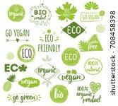 vector illustration bio  eco ... | Shutterstock .eps vector #708458398