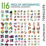 mega collection of infographic... | Shutterstock .eps vector #708461698