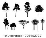 vector set of different trees... | Shutterstock .eps vector #708462772