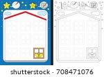 preschool worksheet for... | Shutterstock .eps vector #708471076