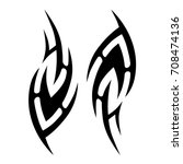 tribal tattoo art designs.... | Shutterstock .eps vector #708474136