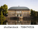 view of a modern art museum ... | Shutterstock . vector #708474526