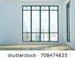 bright unfurnished interior... | Shutterstock . vector #708474835