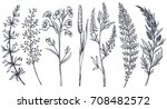 vector collection of hand drawn ... | Shutterstock .eps vector #708482572