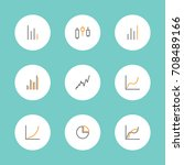 set of charts and graphs icons | Shutterstock .eps vector #708489166