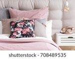 copper phone on white... | Shutterstock . vector #708489535