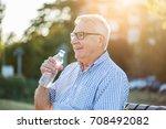 outdoor portrait of senior man...   Shutterstock . vector #708492082