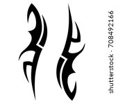tribal tattoo art designs.... | Shutterstock .eps vector #708492166