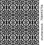 indian pattern vector | Shutterstock .eps vector #708493756