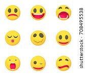 emoticons icons set. cartoon... | Shutterstock .eps vector #708495538