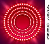 show light circle red... | Shutterstock .eps vector #708501652