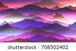 abstract neon mountain...   Shutterstock .eps vector #708502402
