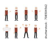 vector set of a man in... | Shutterstock .eps vector #708504562
