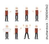 vector set of a man in... | Shutterstock .eps vector #708504562
