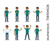 vector set of a man in... | Shutterstock .eps vector #708504628