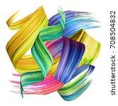 3d render  abstract brush... | Shutterstock . vector #708504832
