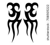 tattoo tribal vector design.... | Shutterstock .eps vector #708505222