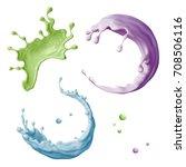 3d render  abstract liquid ... | Shutterstock . vector #708506116