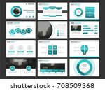 green business presentation... | Shutterstock .eps vector #708509368