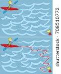easy kayak maze for younger... | Shutterstock .eps vector #708510772
