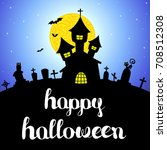 halloween vector card or... | Shutterstock .eps vector #708512308