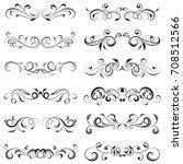 vector illustration set of... | Shutterstock .eps vector #708512566