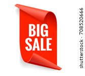 sale banner. realistic red... | Shutterstock .eps vector #708520666