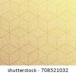 gold glitter geometric pattern... | Shutterstock .eps vector #708521032