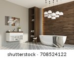 side view of a gray and wooden... | Shutterstock . vector #708524122