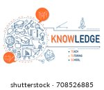 knowledge icons collection for... | Shutterstock .eps vector #708526885